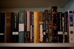 A shelf of classic books