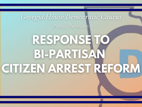 Statement on Citizen's Arrest Reform