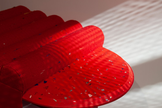Chair001, Red 'Surface' 1000 Chairs, 2020