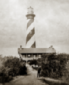 vintage photo of the St Augustine Lighthouse