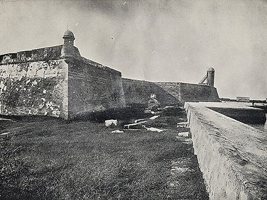 vintage photo of Castillo de San Marco - the St Augustine fort