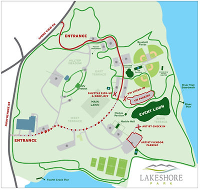 Lakeshore Park New Ground Parking Map