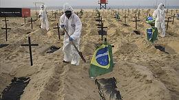 Brasil registra más de 1,200 muertes por covid por tercer día consecutivo