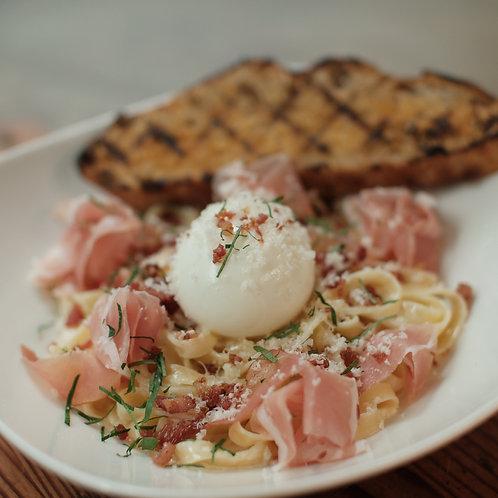 Black Forest Ham With Flat Noodles