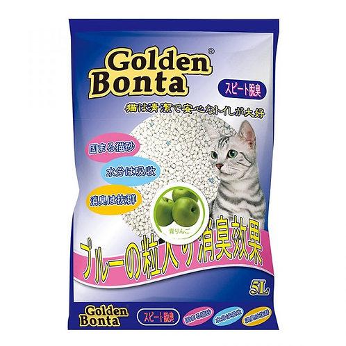 Golden Bonta 圓粒型膨潤土砂 (青蘋果味) 5L