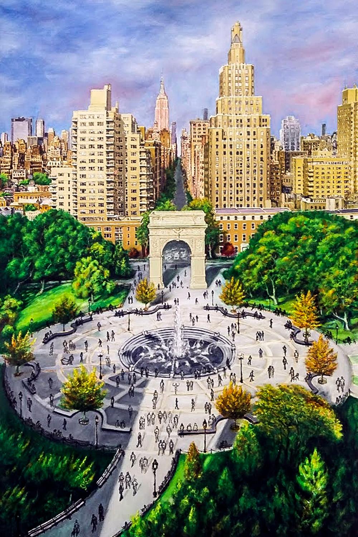 Washington Square Park Painting