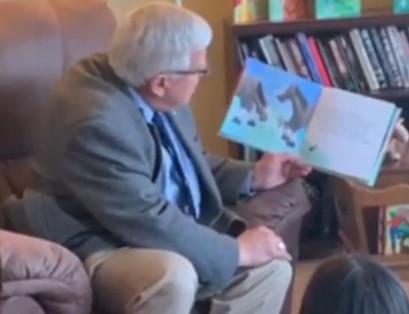 Wyoming Senator Enzi did a great job reading The Big Battle of Thunder the Smallest War Horse