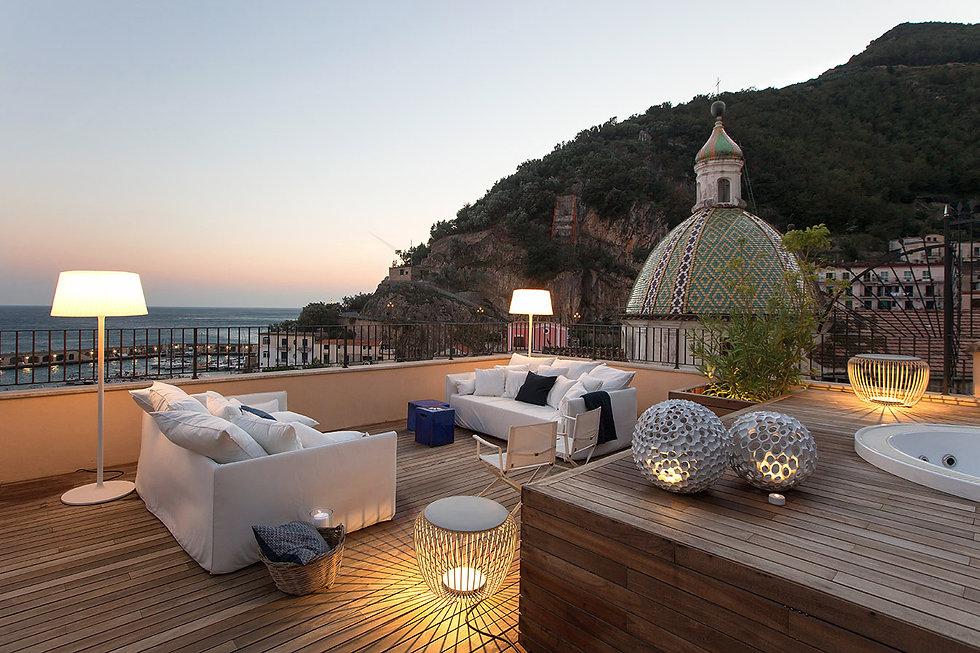 Progetto di interior Design Nido Romantico - Vista terrazzo