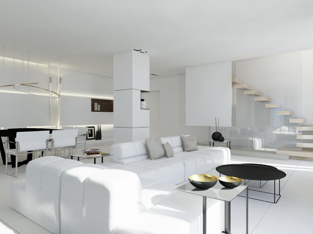 Helt Hvitt | Tosidig Leilighet | Interiørarkitekt Ernesto Fusco