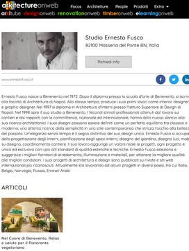Ernesto Fusco Interiørmagasin - Architecture on Web