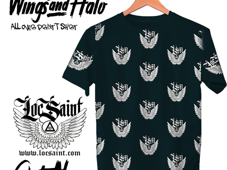 "New Loc Saint ""Wings & Halo"" All Over Print Shirts"
