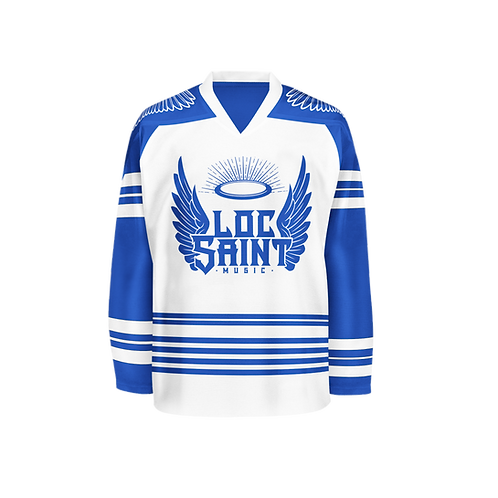 "Loc Saint Music ""Locster 23"" Hockey Jersey Royal Blue & White"