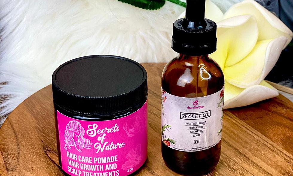 Hair Care Pomade & Secret Oil