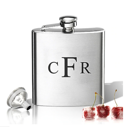 Stainless Steel Flask Engraved