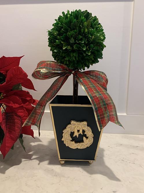 Navy Wreath Cache Pot