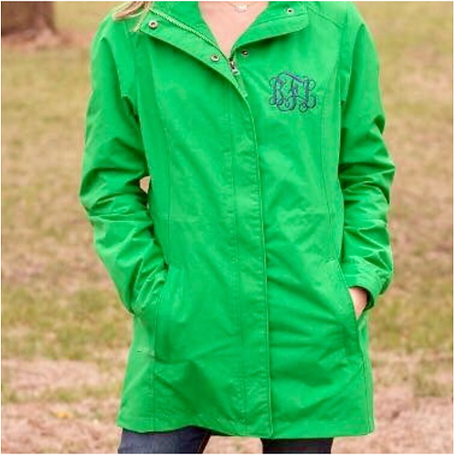 Rain Jacket - Green & Navy