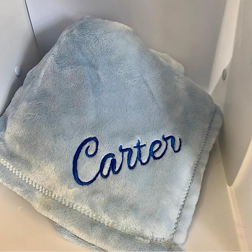 Blue Luxury Fleece Blanket