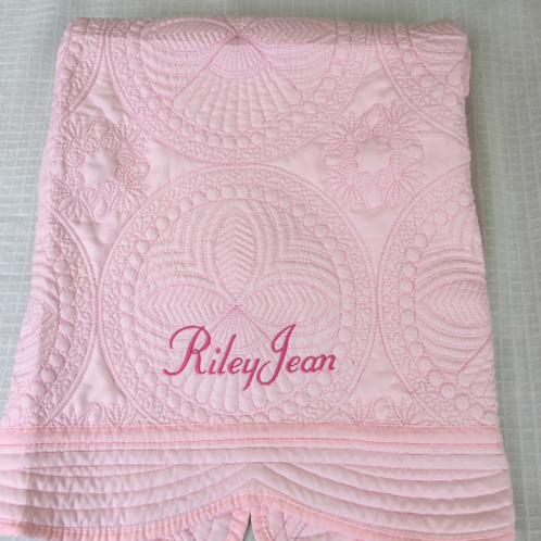 Quilted Baby Blanket - Pink
