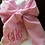 Thumbnail: Swaddle Bow Seersucker blue or pink