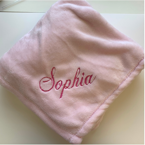 Pink Luxury Fleece Baby Blanket