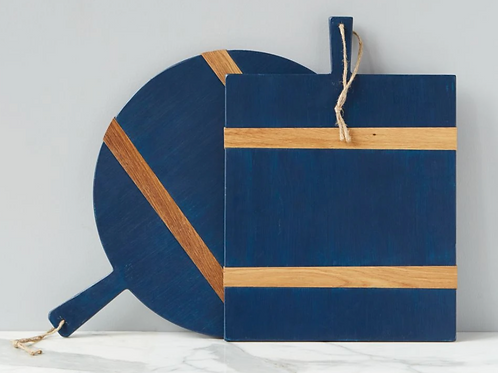 Round or Square Charcuterie Board - Navy
