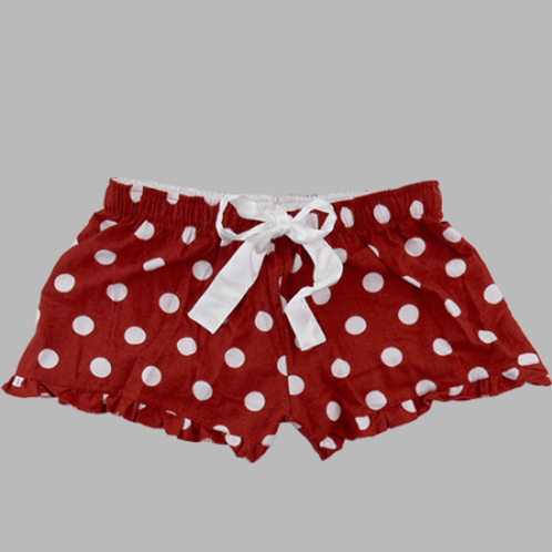 Flannel Shorts - Red