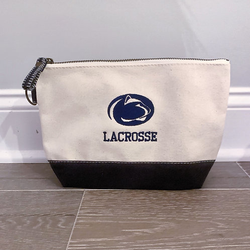 Zippered Pouch - Navy Canvas