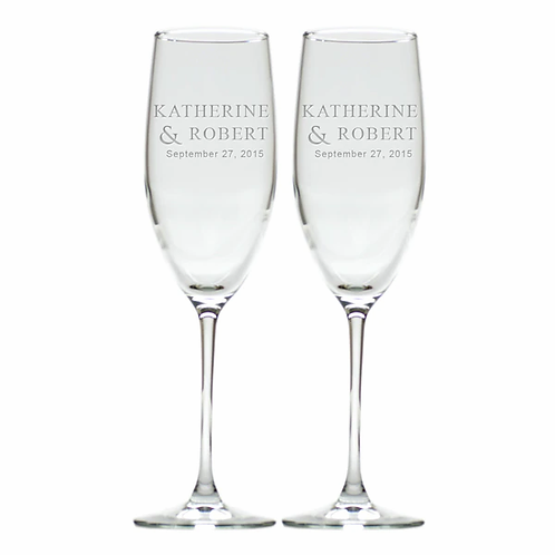 2 Champagne Flutes