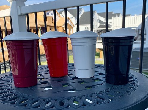 Solo Cups with Lids - Reusable