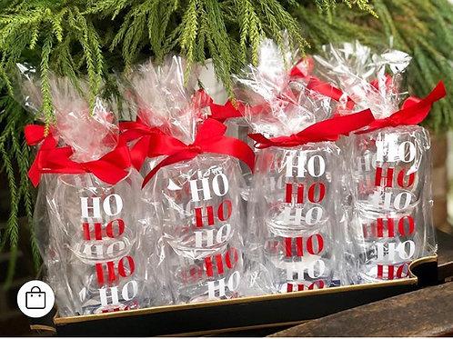 2 -  20 Ounce HoHoHo Wine Glasses