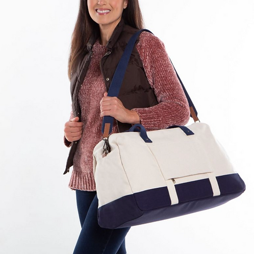 Navy and White Duffel - PSU