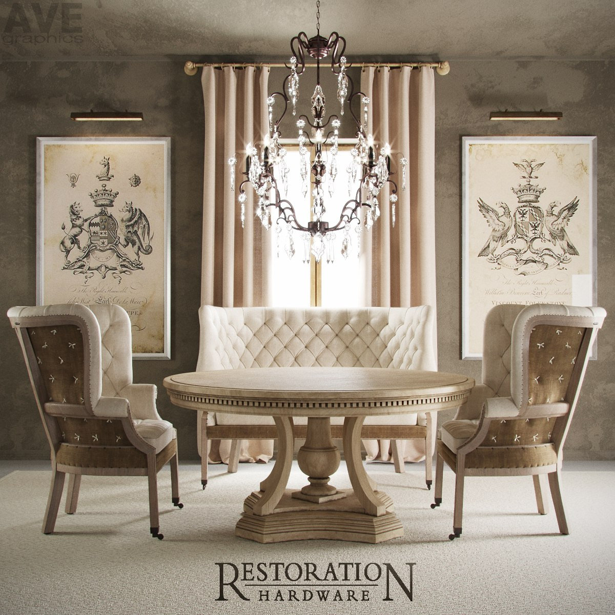 chandeliers  rh english 19th wing chair rh english 19th wing settee rh restoration hardware