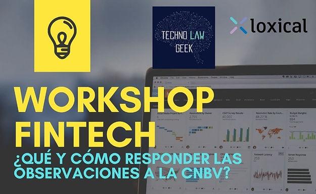 Workshop Fintech (Observaciones CNBV)