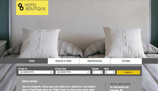 Hotéis website templates – Hotel Boutique