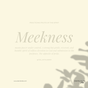 Practicing the Fruits of The Spirit: Meekness