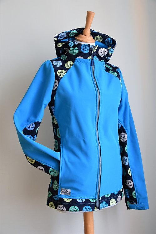 Softshellová bunda Modrá/Hviezdy v kruhu