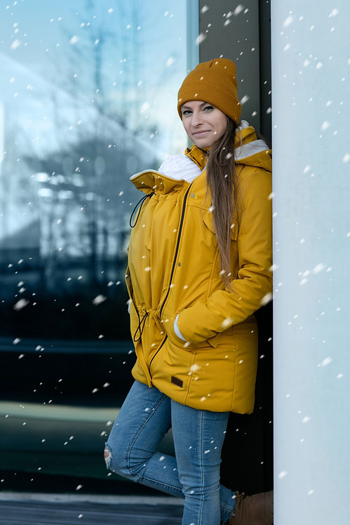 Zimná bunda na nosenie detí Mustard