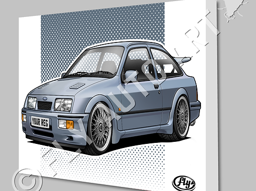 FORD SIERRA RS COSWORTH CANVAS OR POSTER