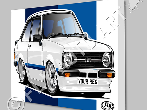 MK2 FORD ESCORT RS1800 CANVAS AND POSTER