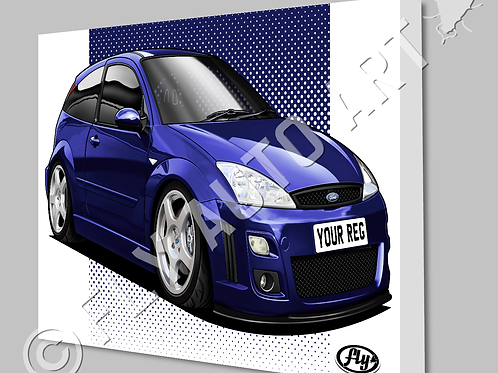 FORD FOCUS MK1 RS CANVAS OR POSTER