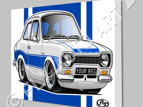 MK1 FORD ESCORT RS2000 CANVAS AND POSTER - CHOICE OF COLOURS