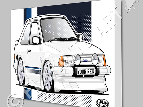 MK3 FORD ESCORT RS TURBO SERIES 1 CANVAS OR POSTER