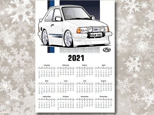 2021 FLY ART A3 WALL PLANNER - CHOICE OF CAR