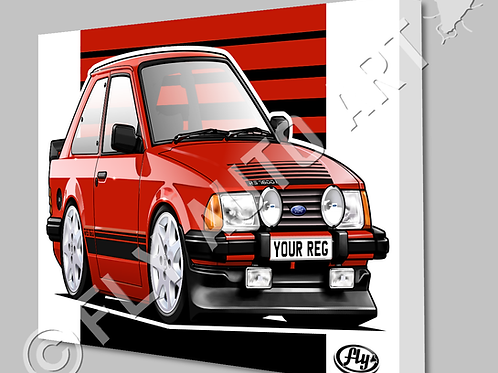 MK3 FORD ESCORT 1600i CANVAS OR POSTER - CHOICE OF COLOURS