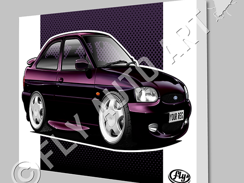 FORD ESCORT MK6 RS2000 CANVAS AND POSTER - CHOICE OF COLOURS