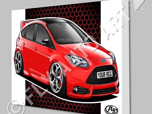 FORD FOCUS ST MK3 CANVAS OR POSTER