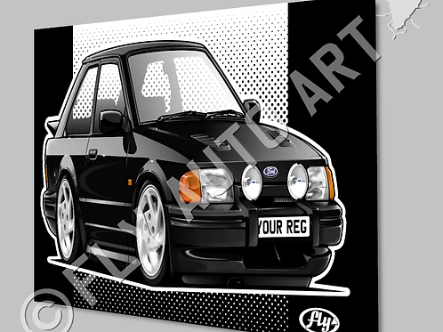 MK4 FORD ESCORT RS TURBO SERIES 2 CANVAS OR POSTER - CHOICE OF COLOURS