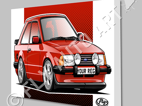 MK3 FORD ESCORT  XR3i CANVAS OR POSTER - CHOICE OF COLOURS