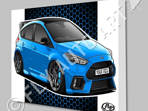 FORD FOCUS MK3 RS EDITION NITROUS BLUE  CANVAS OR POSTER