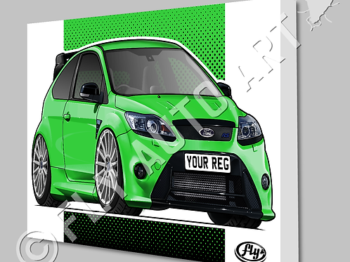 FORD FOCUS RS MK2 CANVAS OR POSTER - CHOICE OF COLOURS